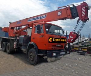 Автокран 25 т 22 м на базе Камаз, 3-осный