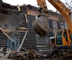 Снос деревянных домов