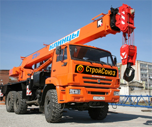 Автокран Вездеход 25 т 22 м на базе Камаз, 3-осный