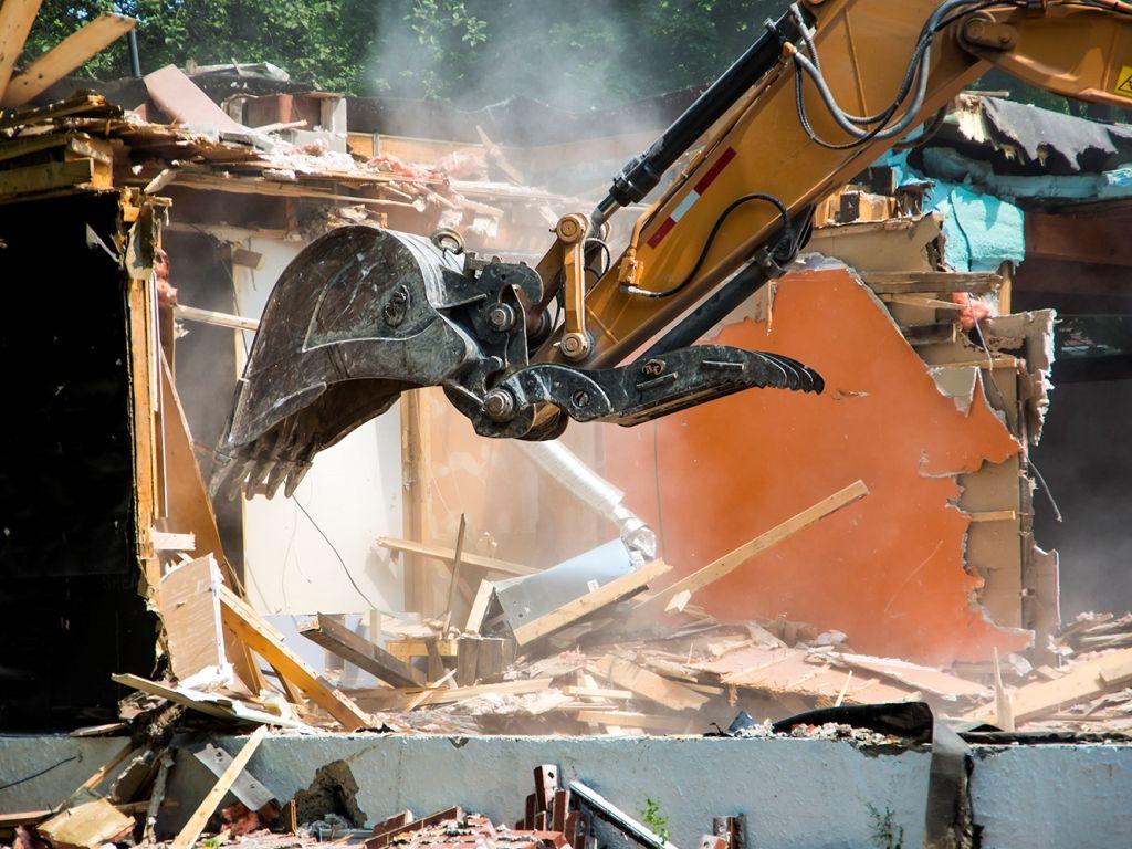 полный демонтаж дома